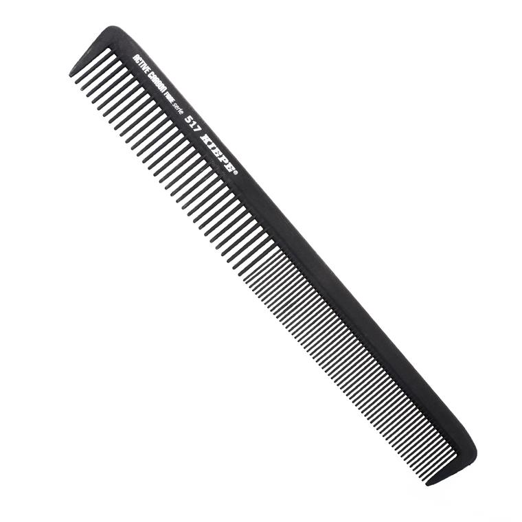 Češalj za kosu antistatički KIEPE Active Carbon 517 Crni