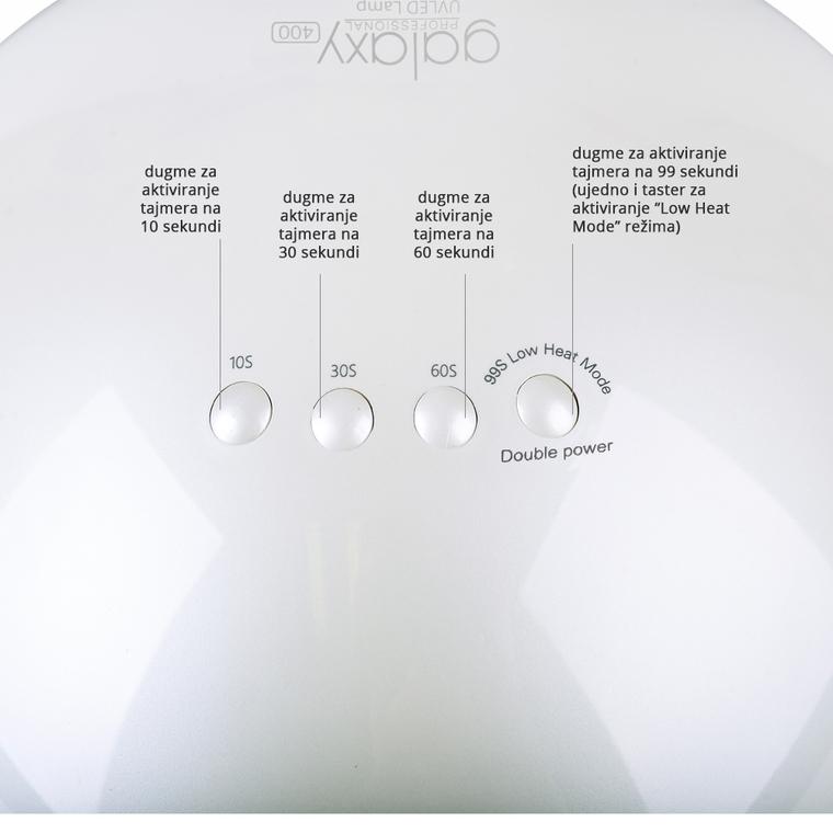 UV/LED lampa za nokte GALAXY400 48W Smart 2.0 sistem