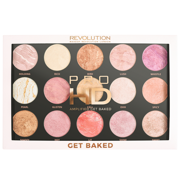 Palette Highlighters and Illuminateurs REVOLUTION MAKEUP HD Pro Amplified Get Baked
