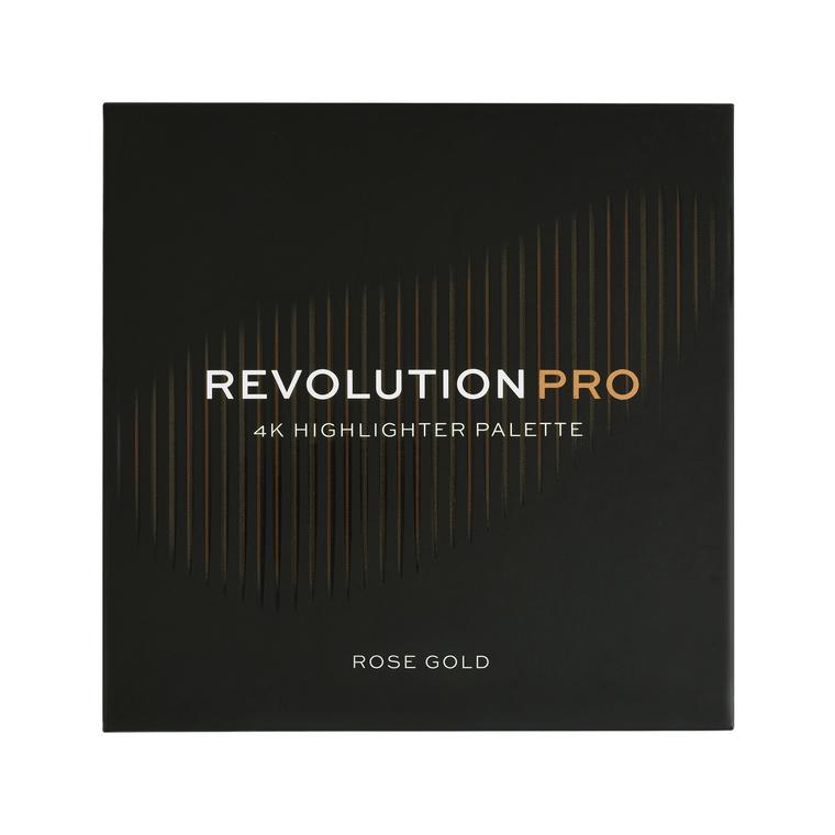 Paleta hajlajtera REVOLUTION PRO 4K Highlighter Palette Rose Gold