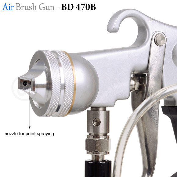Airbrush/aerograf gun 470 B suction system