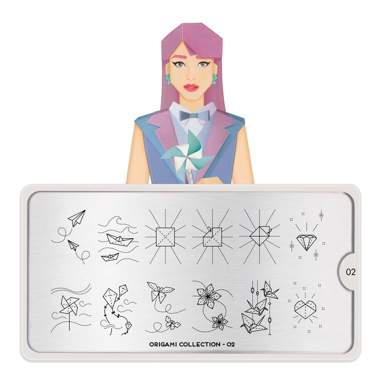 Šablon za pečate MOYOU Origami 02