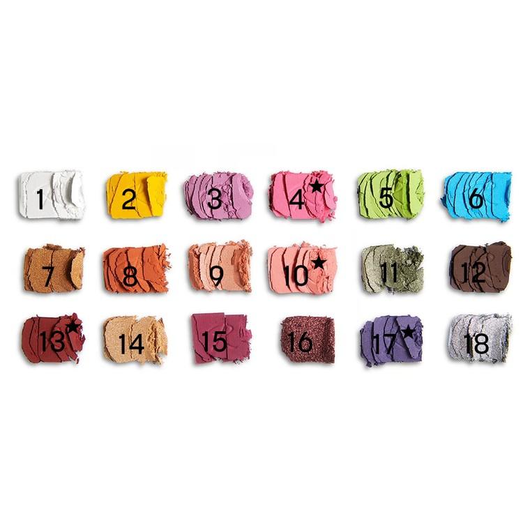 Paleta senki i pigmenata REVOLUTION MAKEUP Roxi Roxxsaurus Colour Burst 14.4g