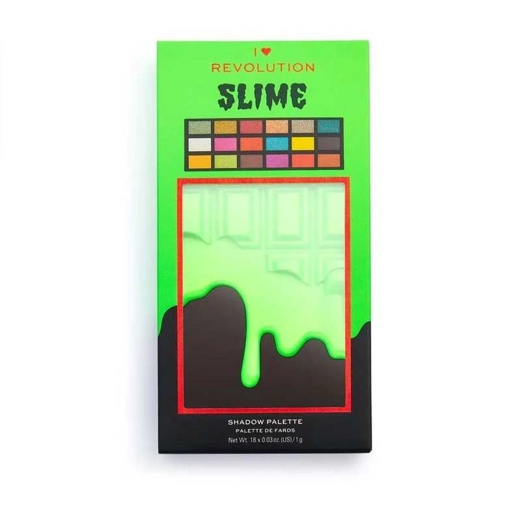 Paleta senki i pigmenata I HEART REVOLUTION Slime Chocolate Halloween 18g