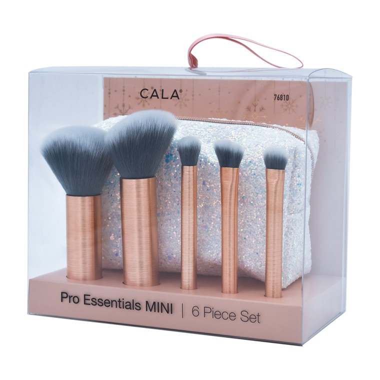 Set četkica za šminkanje CALA Pro Essentails Mini White 76810 6/1