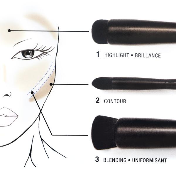 Set četkica za konturisanje NYX Professional Makeup BSET03 3/1