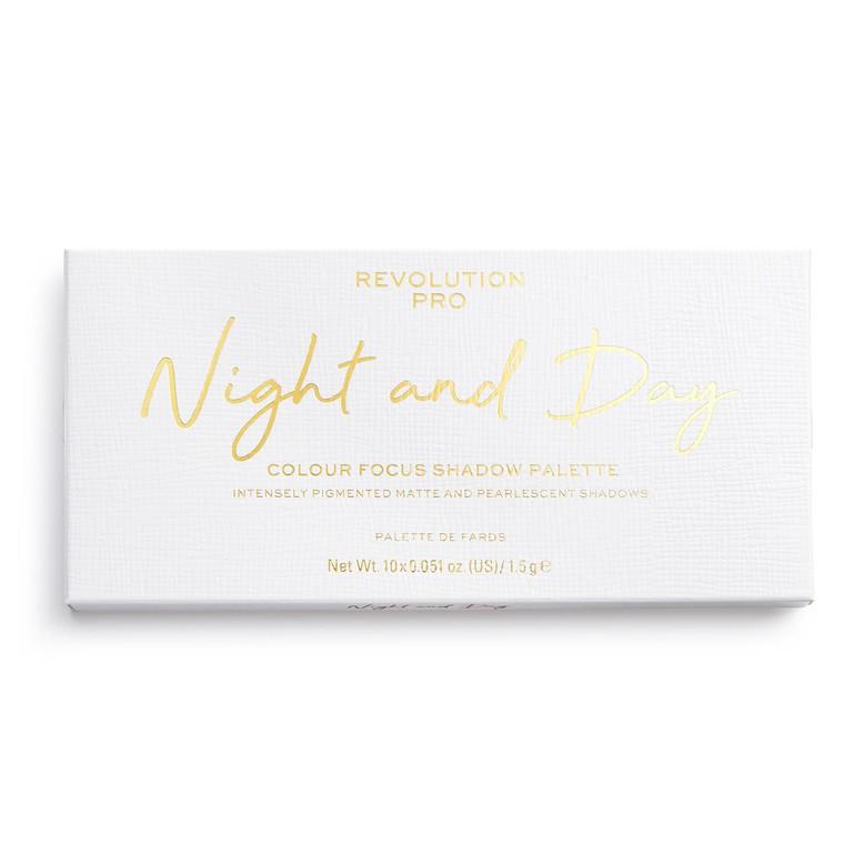 Paleta senki za oči REVOLUTION PRO Colour Focus Night & Day 15g