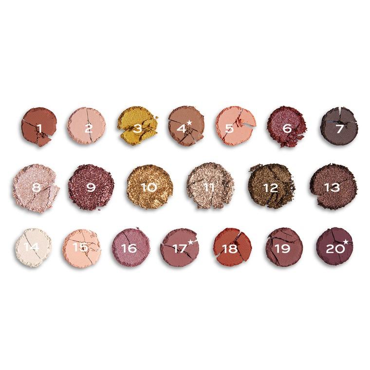 Eyeshadow and Pigments Palette REVOLUTION MAKEUP Precious Stone Rose Quartz 16.9g