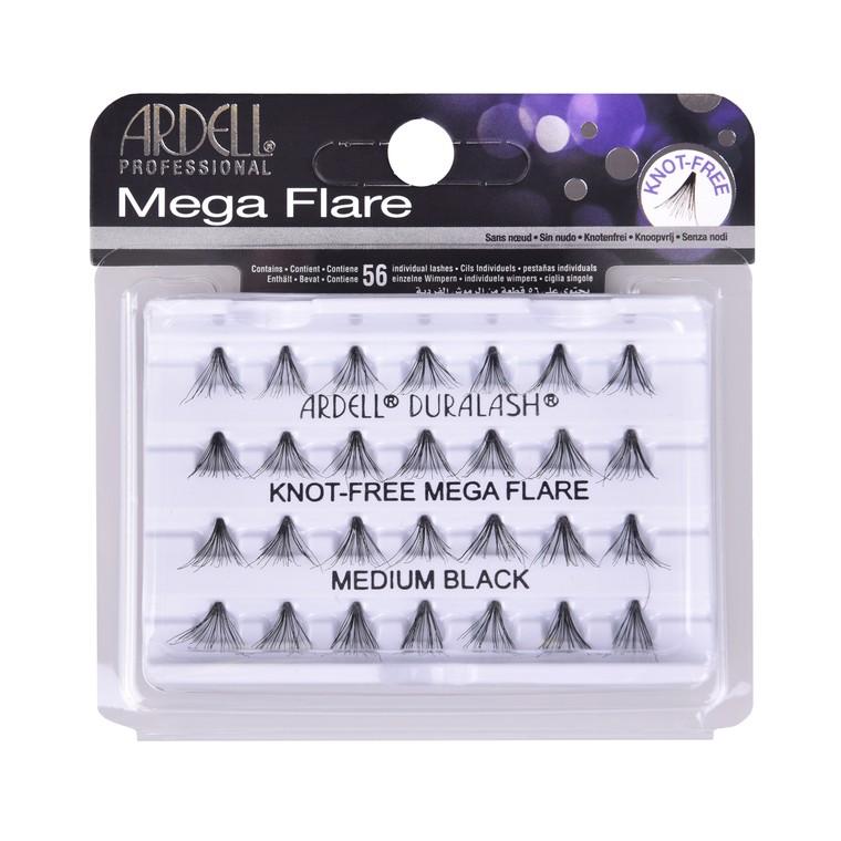 Individualne trepavice bez čvorića ARDELL Mega Flare Black srednje