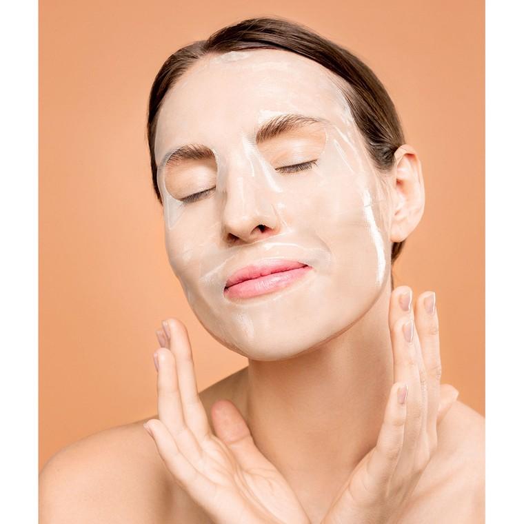 Korejska sheet maska za ujednačen i blistav ten kože lica PURENSKIN Invisible Skin Fit pink guava 23g
