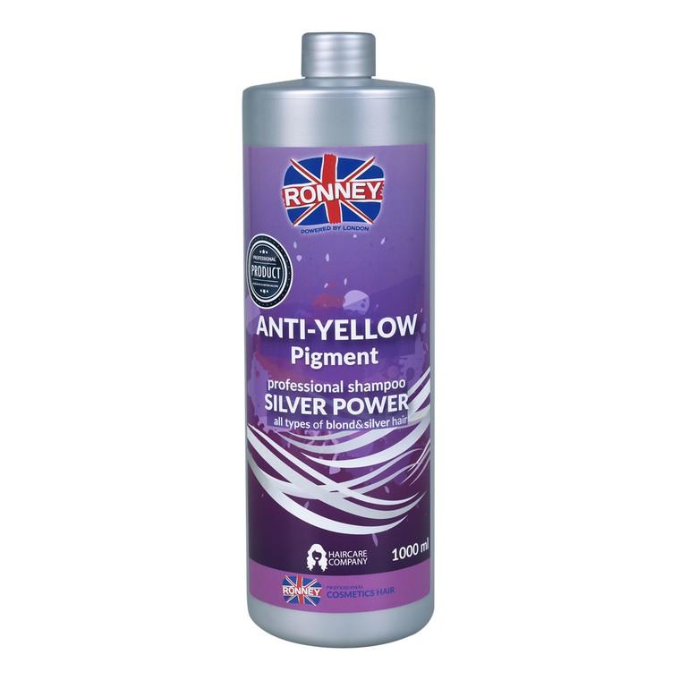 Šampon protiv neželjenih žutih tonova na kosi RONNEY Anti-Yellow Silver Power 1000ml