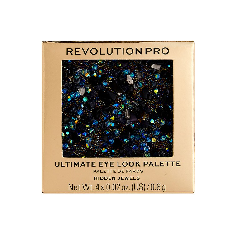 Mini paleta senki REVOLUTION PRO Ultimate Eye Look Hidden Jewels 3.2g