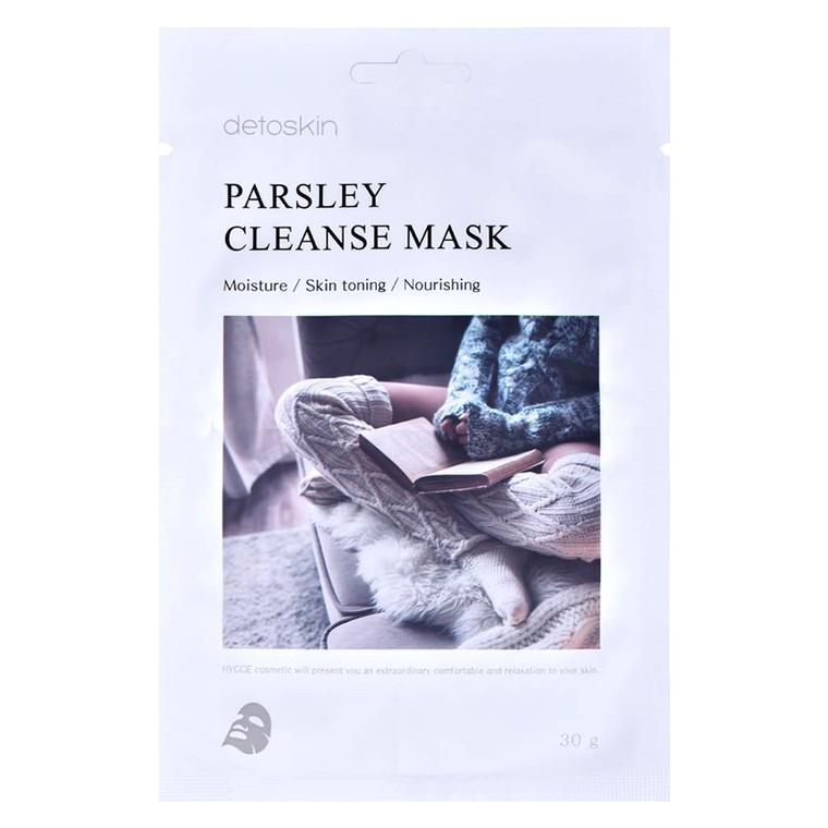 Hranljiva korejska sheet maska za ujednačavanje tena DETOSKIN Parsley Cleanse 30g