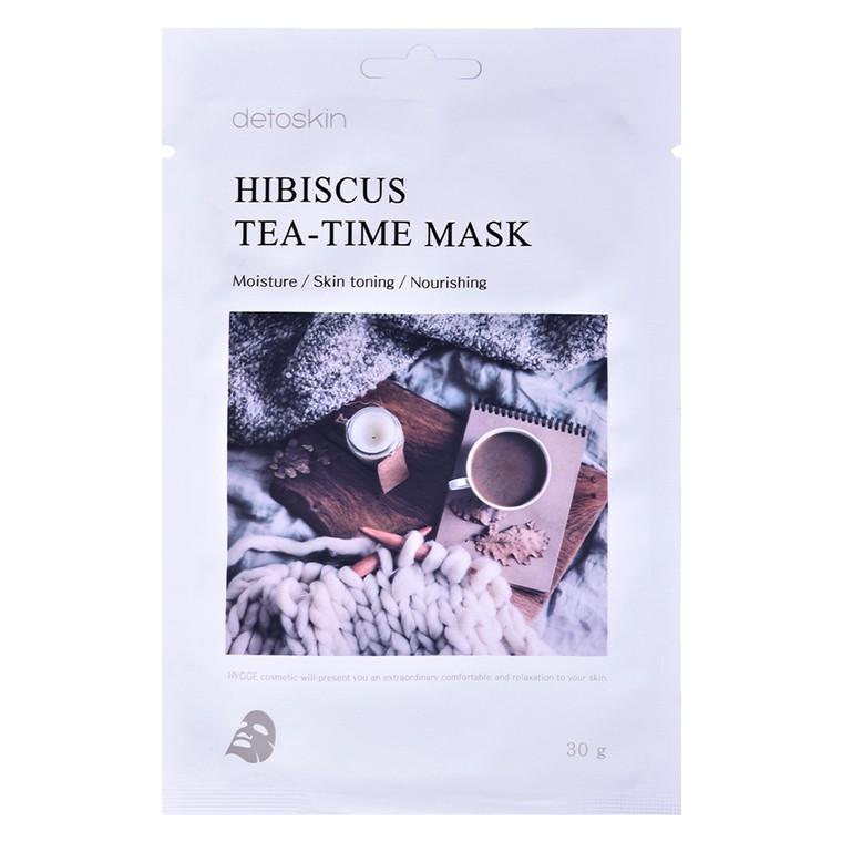 Korejska sheet maska za hidrataciju lica Hibiskus DETOSKIN Tea-Time 30g