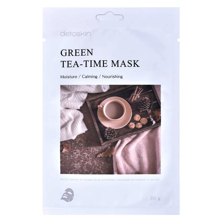 Korejska sheet maska za suvu i osetljivu kožu lica DETOSKIN Green Tea-Time 30g