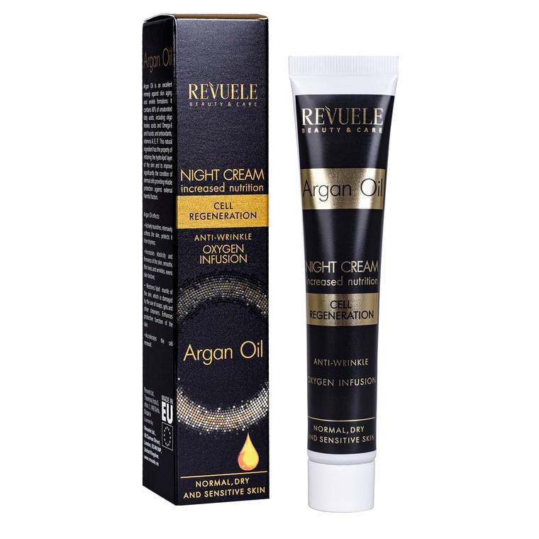 Noćna krema protiv bora REVUELE Argan Oil 50ml