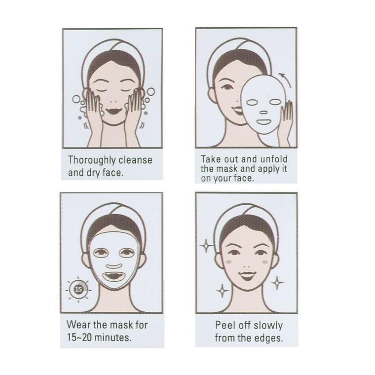 Korejska sheet maska za zatezanje i blistavu kožu lica DERMAL Collagen Essence Kajsija 23g
