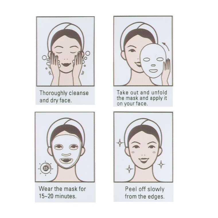 Korejska sheet maska za umirivanje kože lica DERMAL Herb Collagen Essence 23g