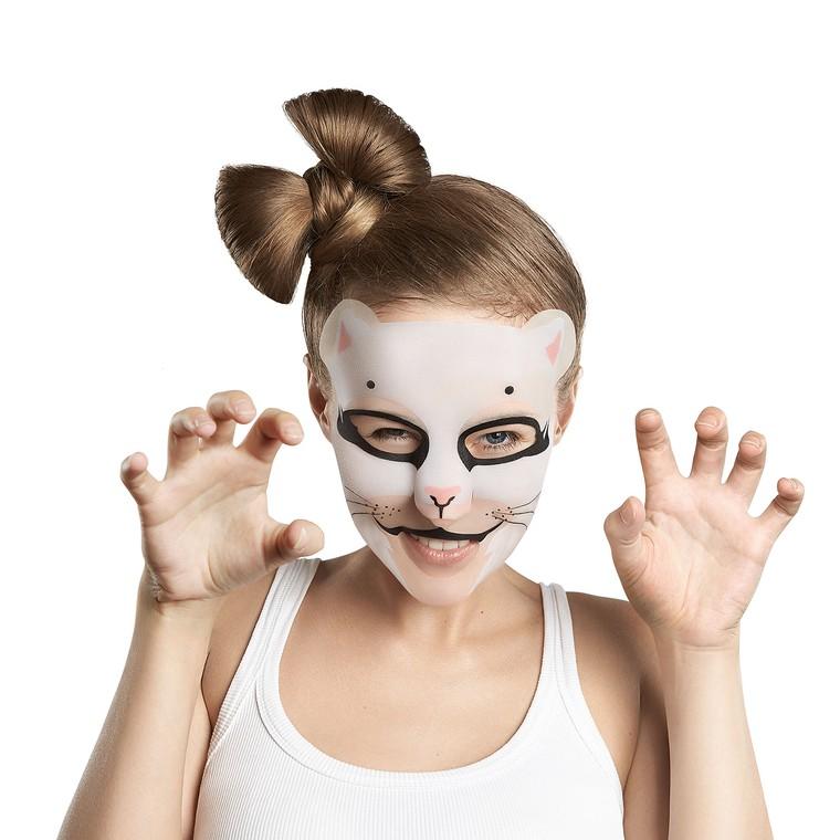 Sheet maska za otklanjanje tragova umora na licu 7DAYS Animal Mask Pretty Kitty 28g