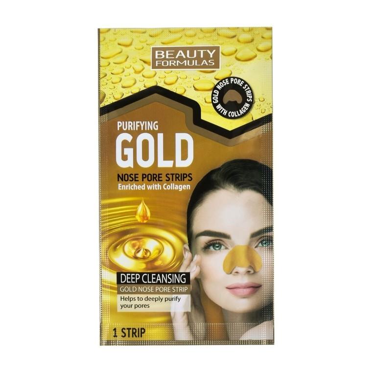 Trakice za uklanjanje mitisera sa nosa BEAUTY FORMULAS Gold Kolagen 6/1
