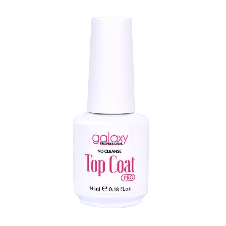 Završni sjaj za gel i trajni lak UV/LED GALAXY Pro Top Coat No Cleanse 14ml
