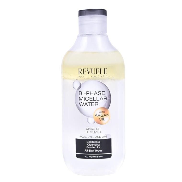Dvofazna micelarna voda za uklanjanje šminke REVUELE Argan Oil Bi-Phase 300ml