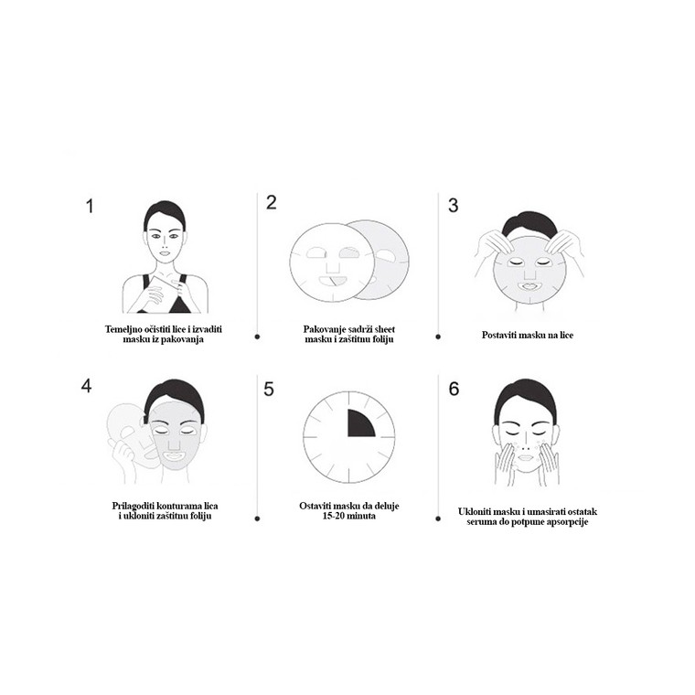 Sheet maska za hidrataciju kože lica ROLANJONA Propolis 30ml