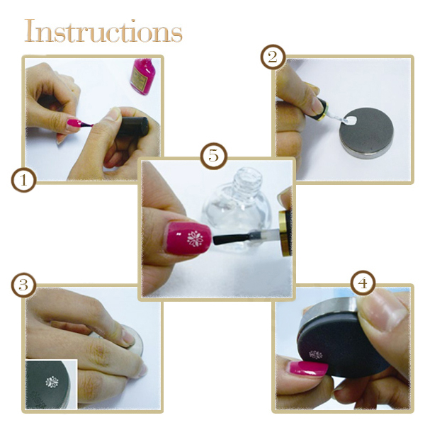 Šablon silikonski za Nail Art A8