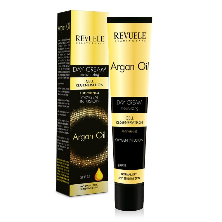 Poklon set za negu kože REVUELE Argan Oil 2x50ml + 25ml