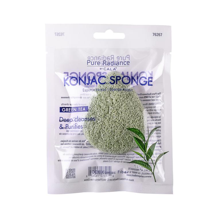 Sunđer za čišćenje lica CALA Konjac Green Tea 76267