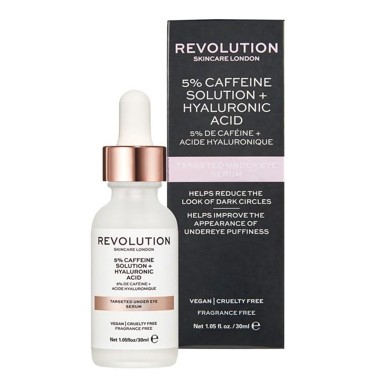 Serum za podočnjake REVOLUTION SKINCARE 5% Caffeine Solution and Hyaluronic Acid 30ml