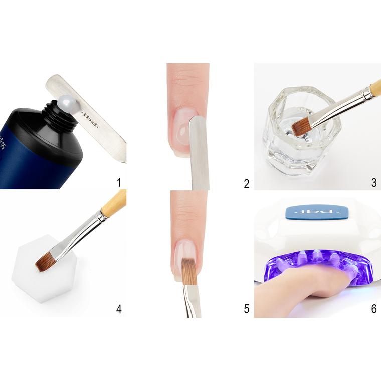 UV/LED gradivni gel za nadogradnju noktiju kamuflažni IBD Control Gel Cool Pink 56g