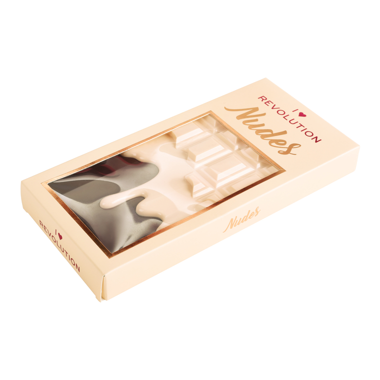 Paleta senki za oči I HEART REVOLUTION Chocolate Nudes 22g