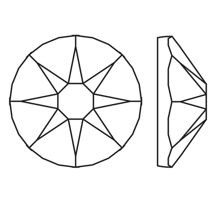 Kristali za nokte SWAROVSKI A 2088 Xirius Rose  SS16 Crystal 20/1