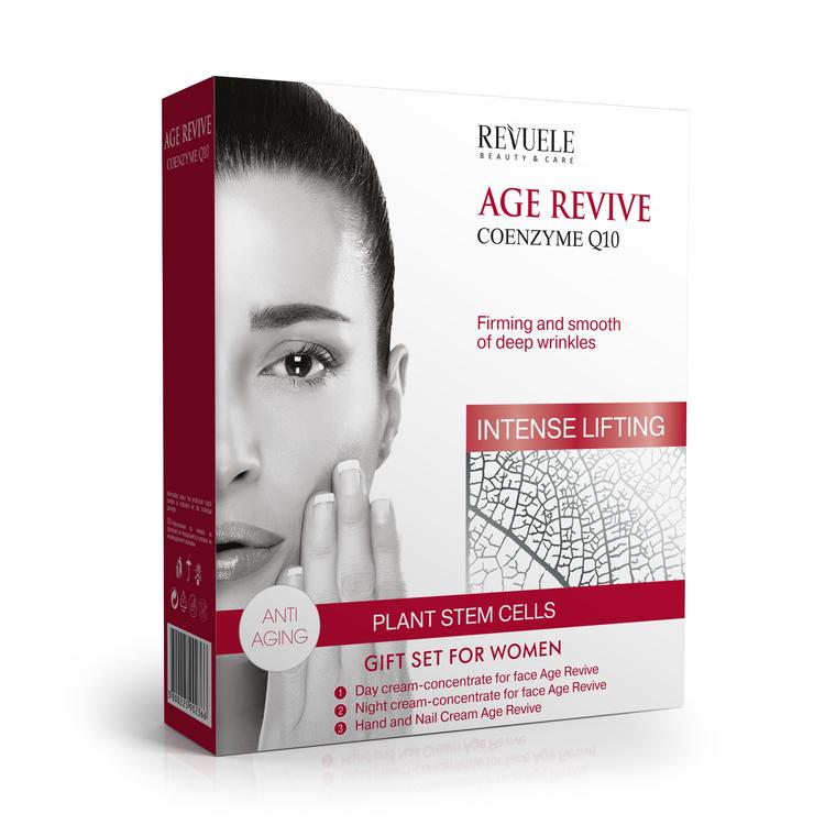 Set za negu lica sa koenzimom Q10 REVUELE Age Revive 3X50ml