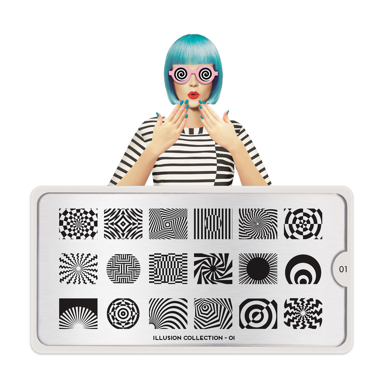 Šablon za pečate MOYOU Illusion 01