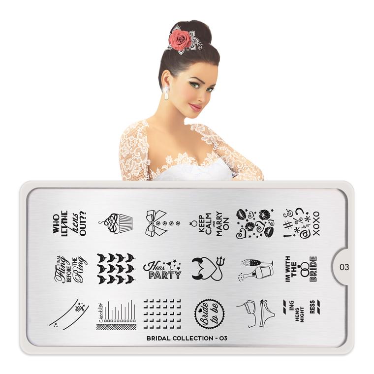 Šablon za pečate MOYOU Bridal 03
