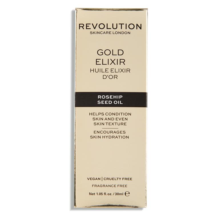 Ulje sa česticama zlata za hidrataciju kože lica REVOLUTION SKINCARE Gold Elixir 30ml