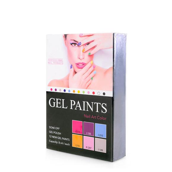 Gel Paints Kit for Nail Art GELP01 6pcs