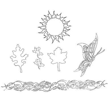 Airbrush šablon za telo BODY ART Natural