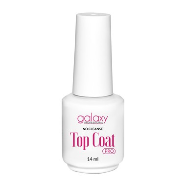 Završni sjaj za gel i trajni lak UV/LED GALAXY Pro Top Coat No Cleanse 14ml