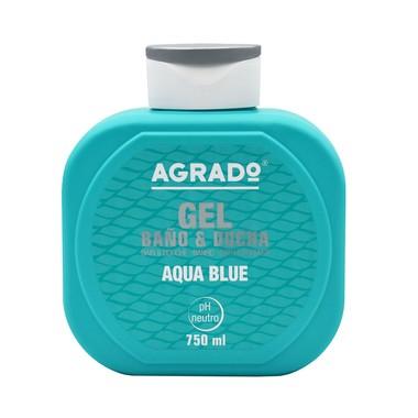 Bath and Shower Gel AGRADO Aqua Blue 750ml