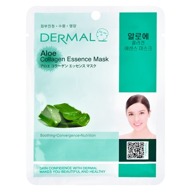 Korejska sheet maska za umirivanje kože lica DERMAL Collagen Essence Aloe 23g