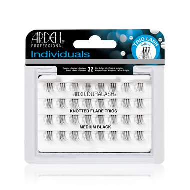 Individual Lashes Knotted Flare Trios ARDELL Medium Black
