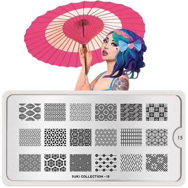 Stamping Nail Art Image Plate MOYOU Suki 15