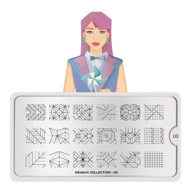 Šablon za pečate MOYOU Origami 03