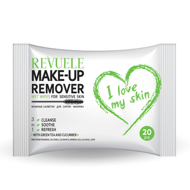 Vlažne maramice za uklanjanje šminke za osetljivu kožu REVUELE Sensitive Skin 20/1