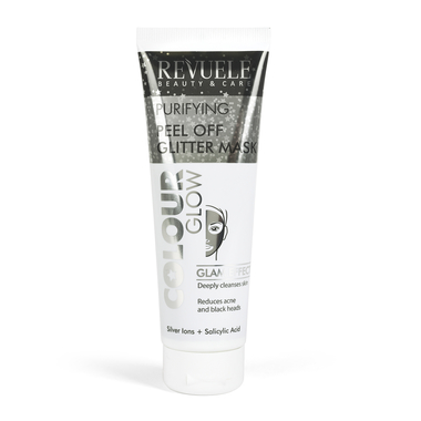 Peel-off gliter maska za dubinsko čišćenje kože lica REVUELE Colour Glow 80ml
