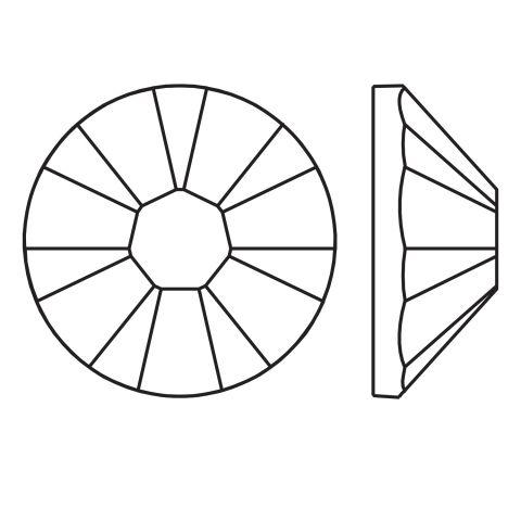 Kristali za nokte SWAROVSKI, A 2058 XILION Rose Enhanced, SS10 Jet 40/1