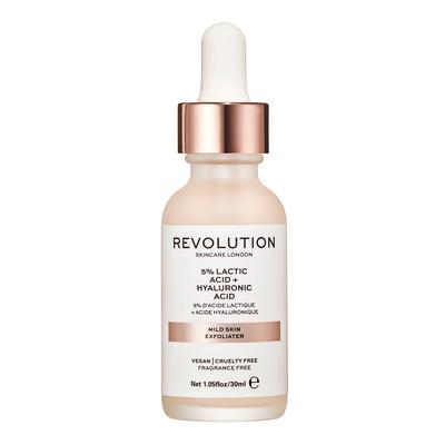 Noćni serum za blagi piling lica REVOLUTION SKINCARE 5% Lactic Acid & Hyaluronic Acid 30ml